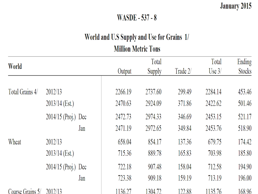 Grains ed OilSeeds: il comparto vola con il WASDE Report