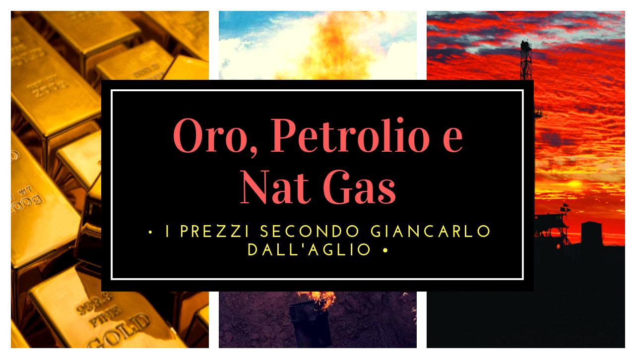 Oro, Petrolio, Caffè e... I prezzi secondo Giancarlo Dall'Aglio
